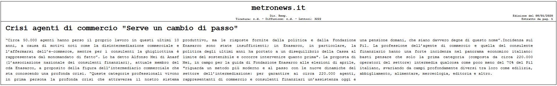 CRISI AGENTI DI COMMERCIO...